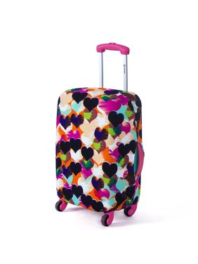 Luggage Cover Protector,24'' Colorful Elastic Luggage Travel Bag Suitcase Protector Cover Dust-proof Case(Not include the suitcase)