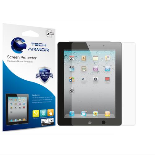 Tech Armor Apple iPad 4, 3 & 2 [NOT IPAD AIR] High Defintion HD-Clear Screen Protectors -Max Clarity and Touchscreen Accuracy [2-Pk] Lifetime Warranty