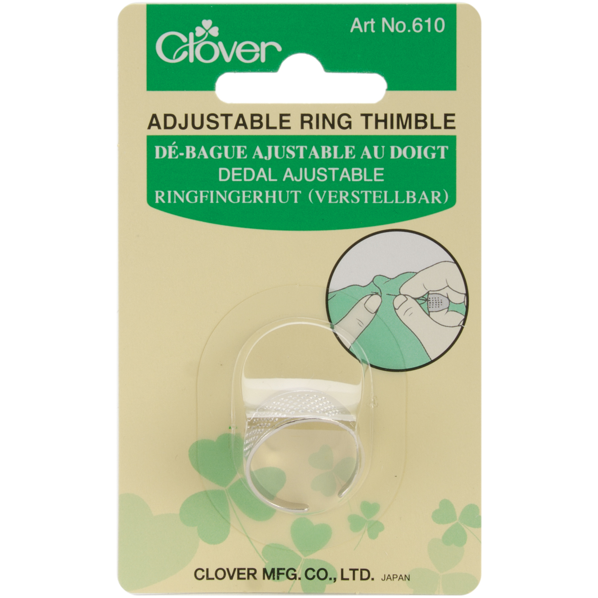 Clover Ring Thimble-Adjustable