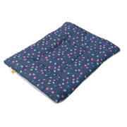 Dog Terry Cloth Rectangle Shaped Wave Point Printed Blanket Bed Cushion Size S