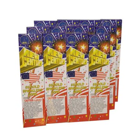 72pc #8 Gold 4th of July, New Years, Party Sparklers 1 Packages of 72 Sparklers (4th Of July Party Favors)