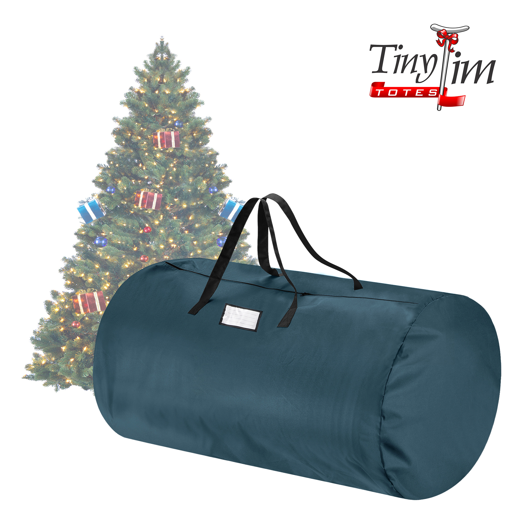 Tiny Tim Totes | Canvas Christmas Tree Storage Bag | Extra Large For 9 Foot Tree | Green