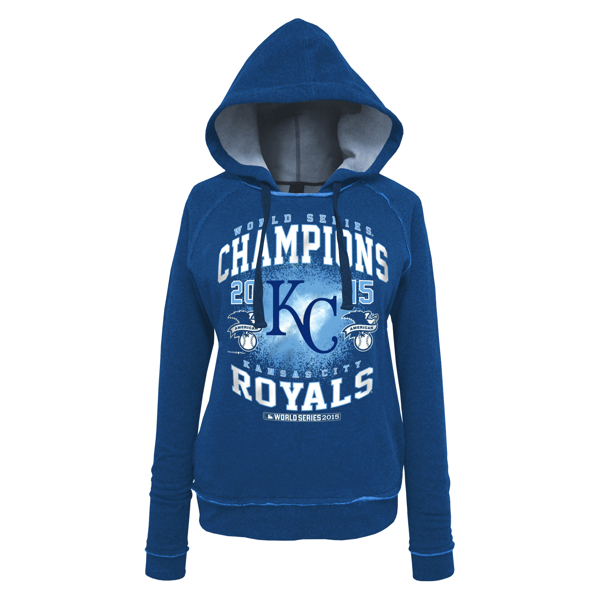 Kansas City Royals 5th & Ocean by New Era Women's 2015 World Series Champions Pullover Hoodie - Royal
