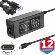 45W Type C USB AC Charger Fit for HP Chromebook x360 14 14A G5 11 11A G6 G7 EE Spectre Elite x2 14b-ca0013dx 14-db0023dx 14-ca003cl 918337-001 844205-850 828769-001 Laptop Power Adapter Supply Cord