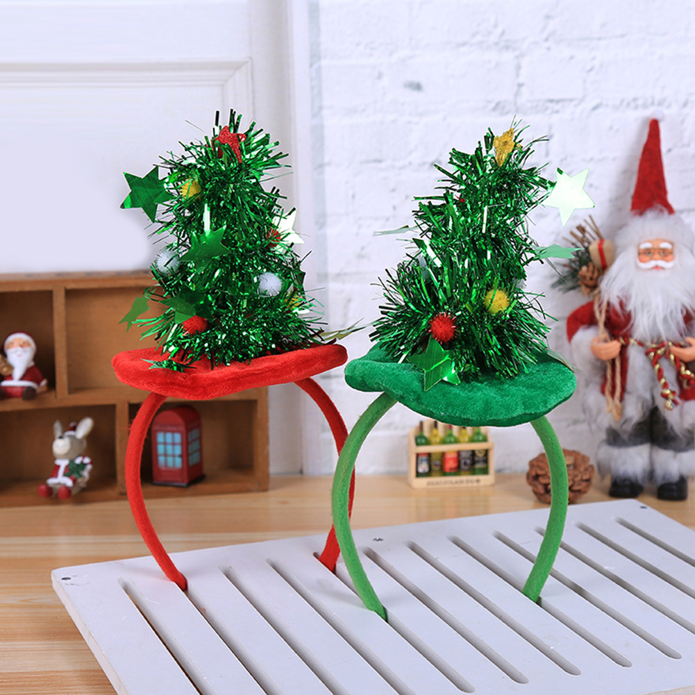 Moderna Lovely Christmas Tree Decor Headband Kids Children Adult Hairband Headwear Gift