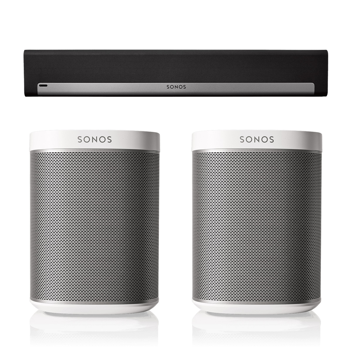 Sonos PLAYBAR Surround Sound System with PLAY:1 Pair by Sonos