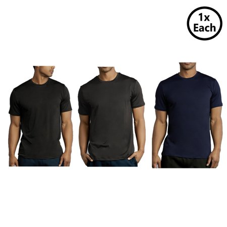Qraftsy Men Classic Sports Polyester Short Sleeve T-Shirt - Bulk Wholesale - 3 Pack - Skirt Wholesale