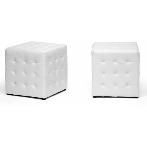 Siskal Modern Cube Ottoman, Set of 2, Multiple Colors