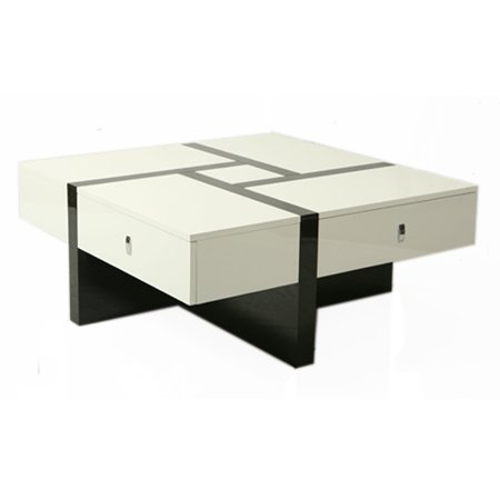 Pastel jumeirah coffee table black white high gloss for Spl table 98 99