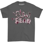 Bunny The Bear Men's Animal T-shirt Large Grey