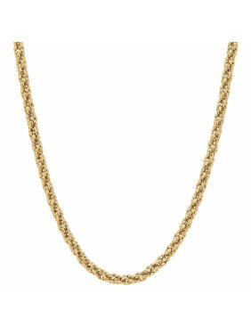 """Brilliance Fine Jewelry 10K Yellow Gold Infinity 18"""" Rope Chain Necklace"""