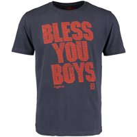 Detroit Tigers Red Jacket Bless You Boys Topps T-Shirt - Navy