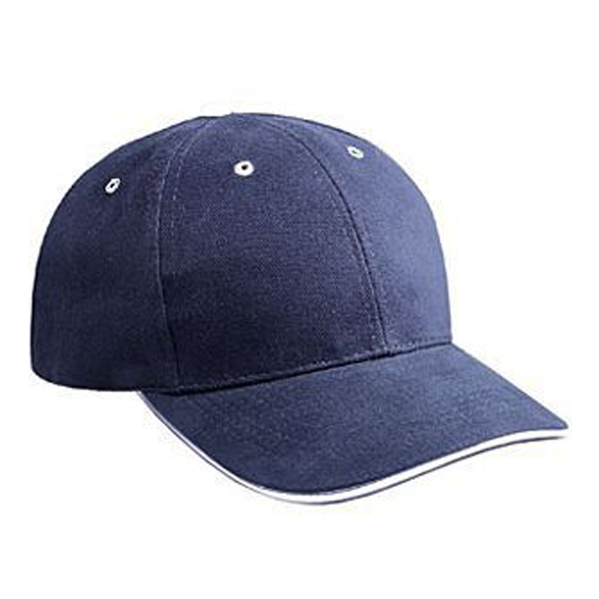 Otto Cap Brushed Bull Denim Sandwich Visor Low Profile Style Caps - Hat / Cap for Summer, Sports, Picnic, Casual wear and Reunion etc