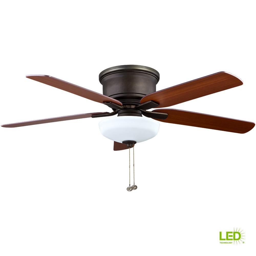 Hampton Bay Holly Springs Low Profile 52 Led Indoor Ceiling Fan With Light Kit Walmart Com Walmart Com