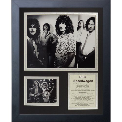 Legends Never Die Reo Speedwagon Framed Memorabilia