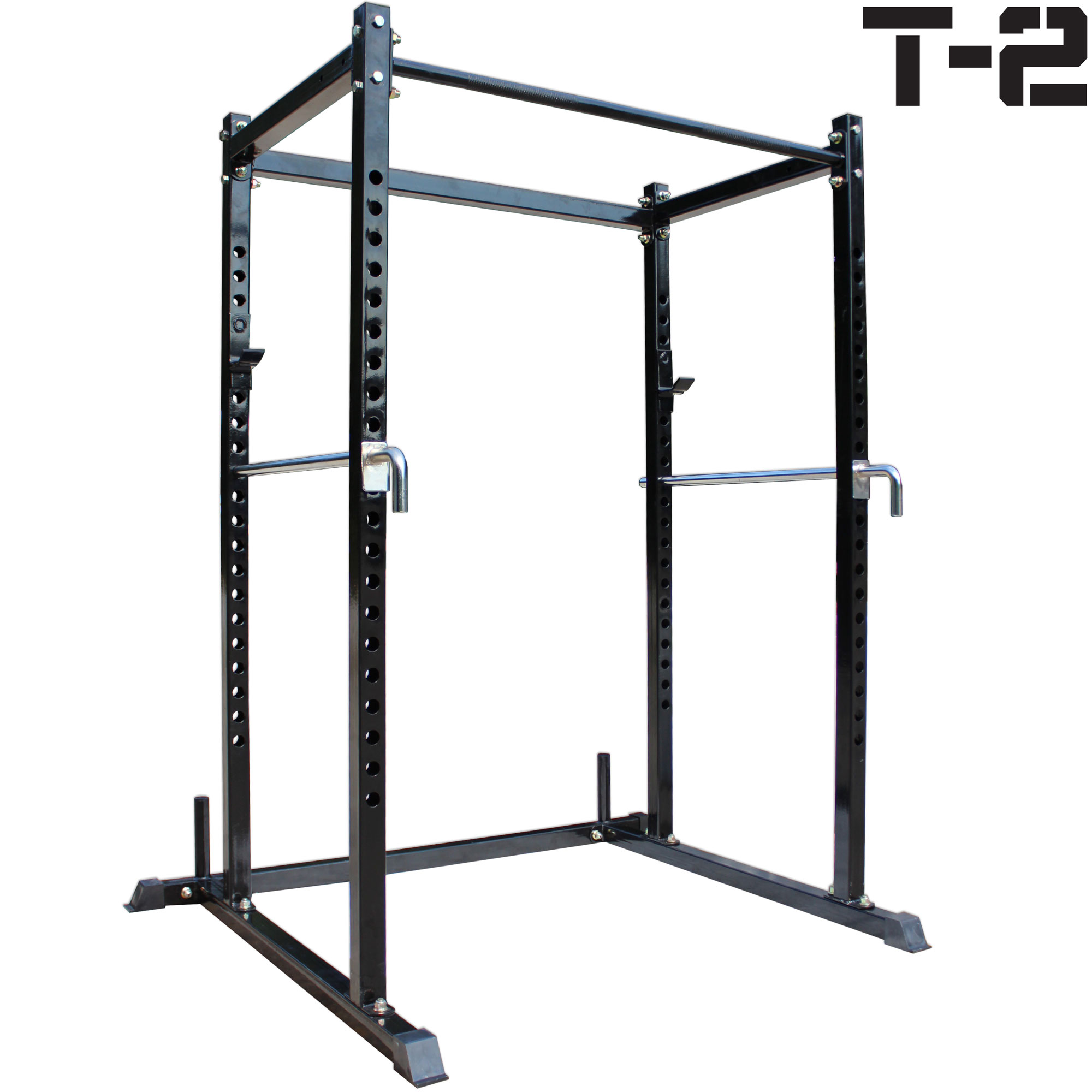 Titan T-2 Series Short Power Rack w Dip Bars Lift Cage Bench cross fit pull up by Titan Fitness