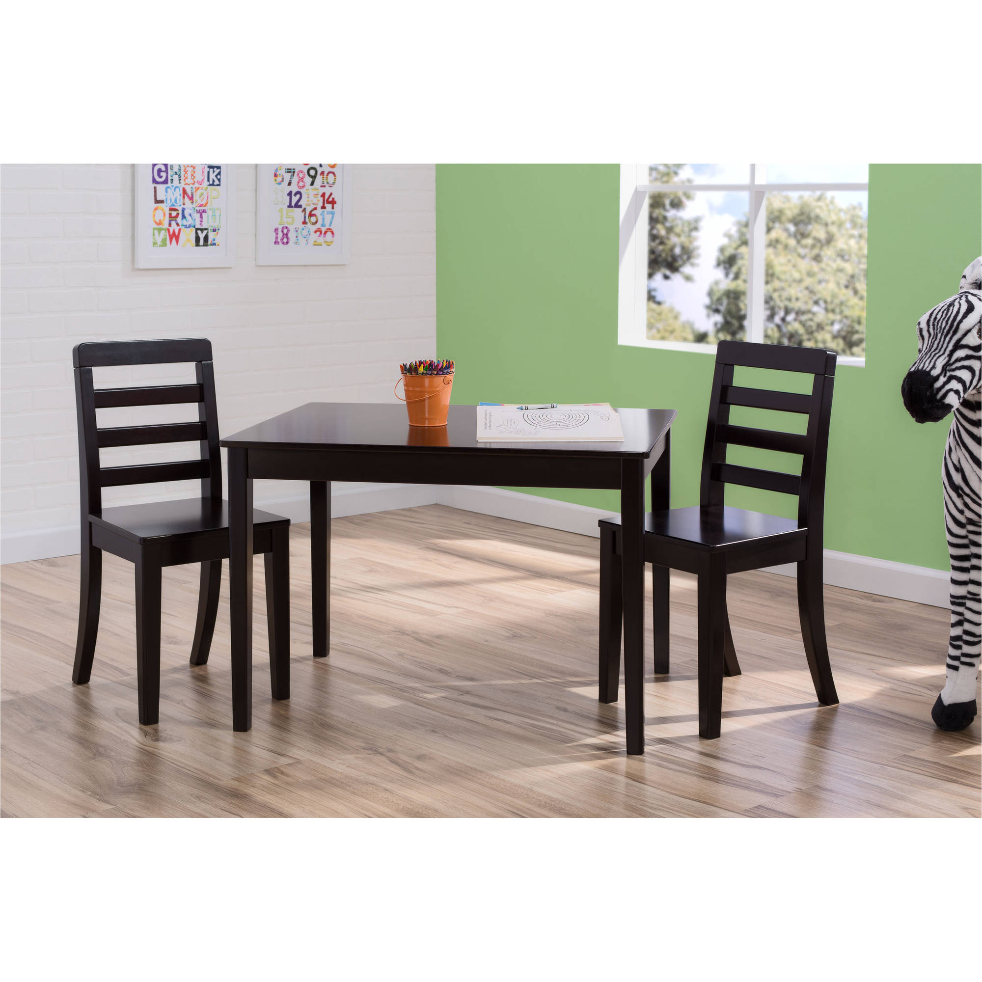Kids Table And Chairs Set Espresso: Delta Children Gateway Table And 2 Chairs Set, Espresso