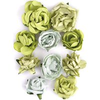 """Paper Blooms, 1"""" to 1.5"""", 10pk"""
