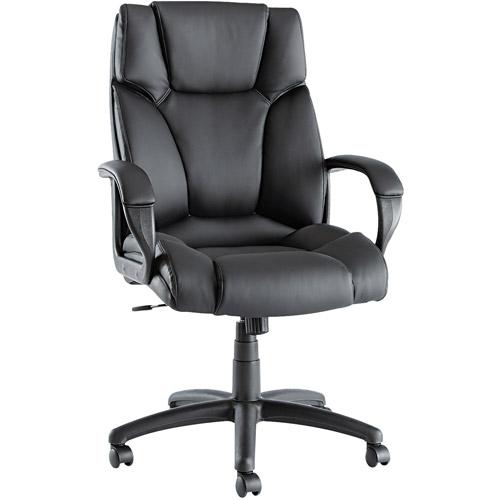 Alera Fraze High-Back Swivel/Tilt Chair, Black Leather
