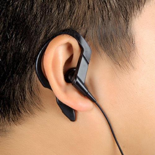 Insten 3.5 Black Earphone Headphone Handsfree with Ear Hooks For Samsung Galaxy S6 S5 Note 5 iPhone 6 6s Plus 5.5/4.7