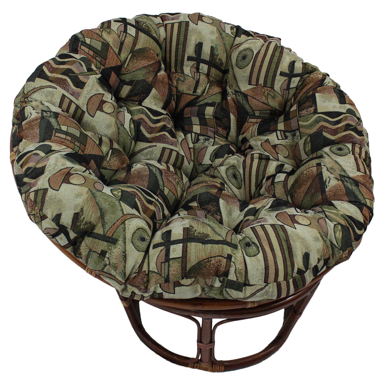 International Caravan 42 in. Papasan Chair with Tapestry Cushion