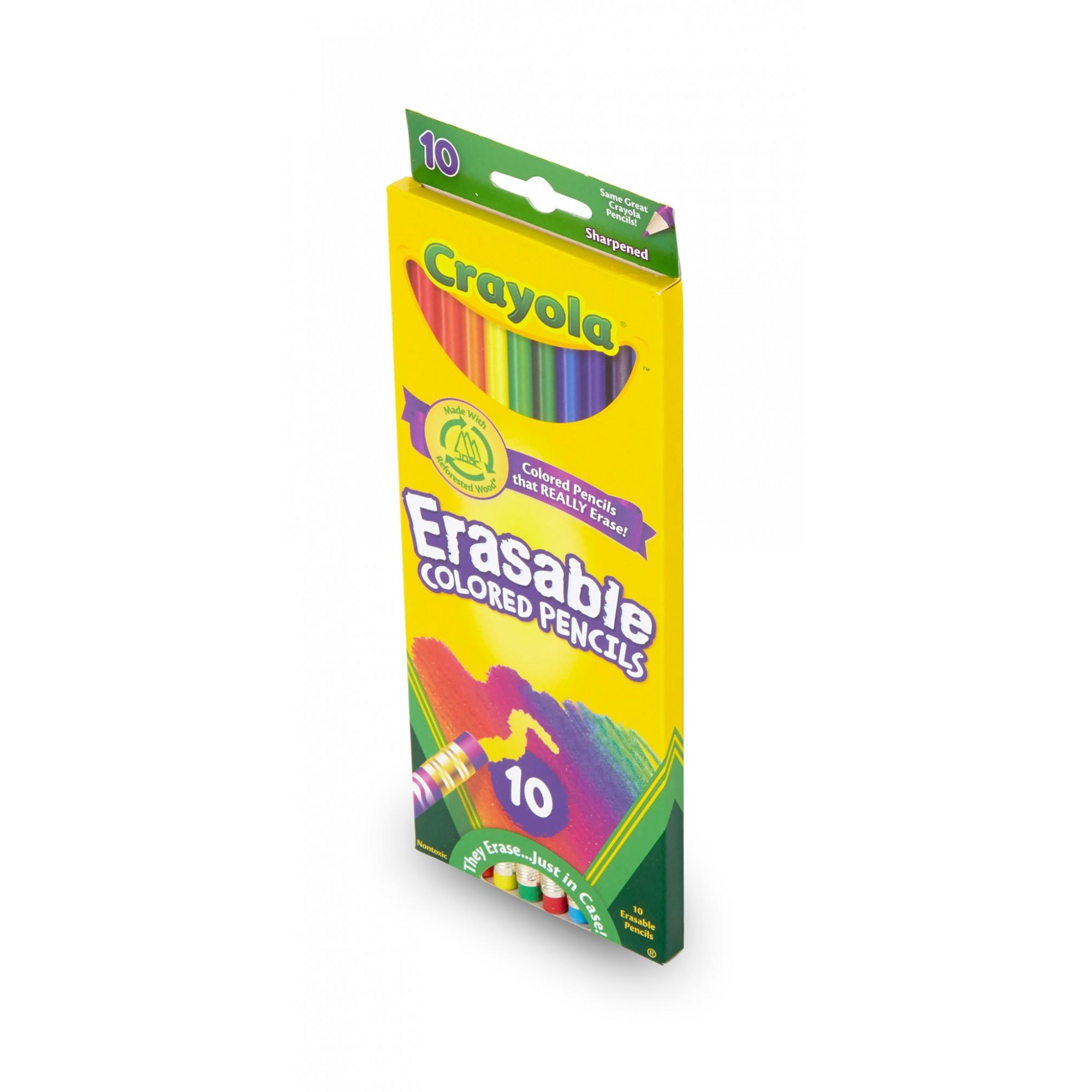 Crayola Erasable Colored Pencils, 10 Count