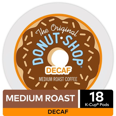 The Original Donut Shop Decaf Coffee, Keurig K-Cup Pod, Medium Roast, 18 Ct (Keurig Organic Decaf Green Tea)