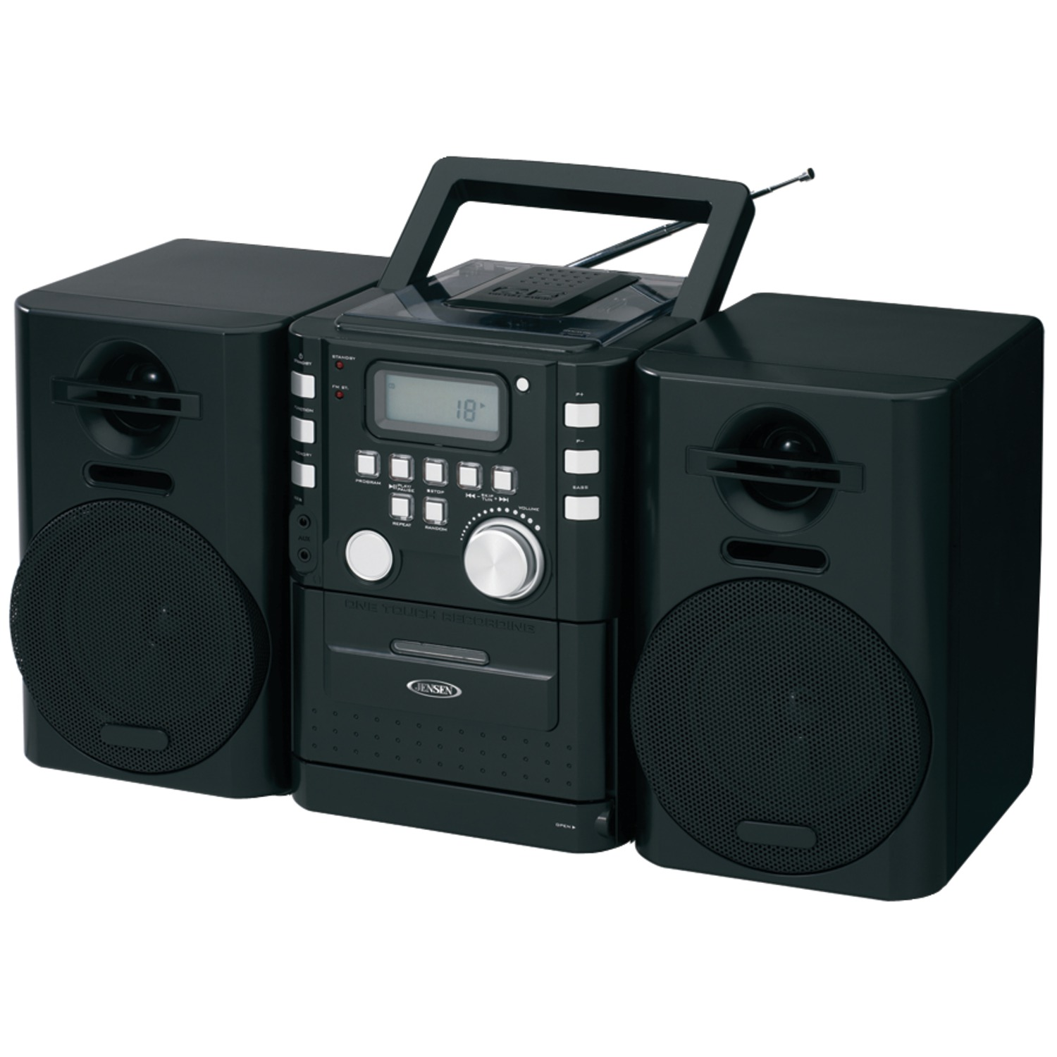 JENSEN CD-725 Portable CD Music System with Cassette & FM Stereo Radio