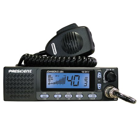 12-24VDC MOBILE CB RADIO WITH SELECTABLE 3-COLOR FRONT PANEL, LCD MULTI-FUNCTION DISPLAY, ROGER BEEP, DUAL WATCH & - Panel Mobile Display