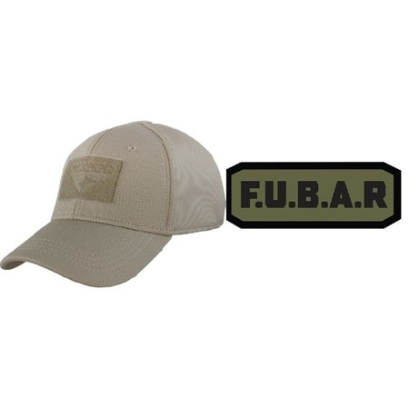 92e3b854e28 Condor Flex Tan Cap Small Medium + F.U.B.A.R FUBAR PATCH BLACK OD GREEN -  Walmart.com