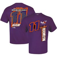 Denny Hamlin Joe Gibbs Racing Team Collection 2020 Schedule T-Shirt - Purple