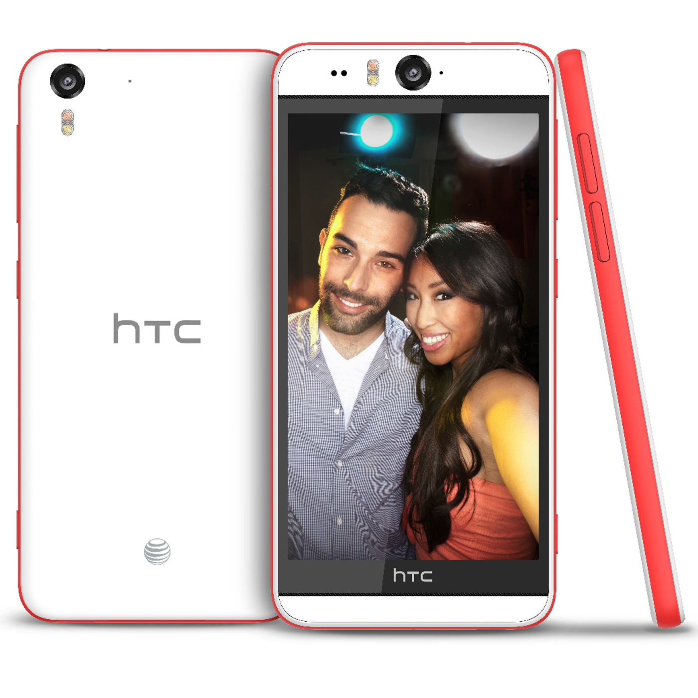 "New HTC Desire Eye OPFH100 16GB GSM Unlocked 4G LTE 5.2"" IPS LCD 2GB RAM 13MP Smartphone - White & Red AT&T Unlocked - White & Red"