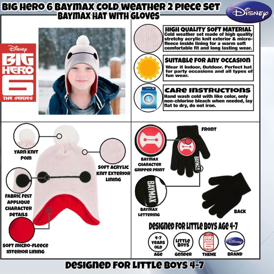 4dc9a7a5e26 Disney - Disney Big Hero 6 Hat and Gloves Cold Weather Set