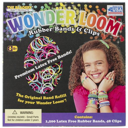 Wonder Loom Rubber Bands And Clips Refill Set, Beadery-Wonder loom rubber bands and clips refill set By Beadery](Halloween Loom Bands)