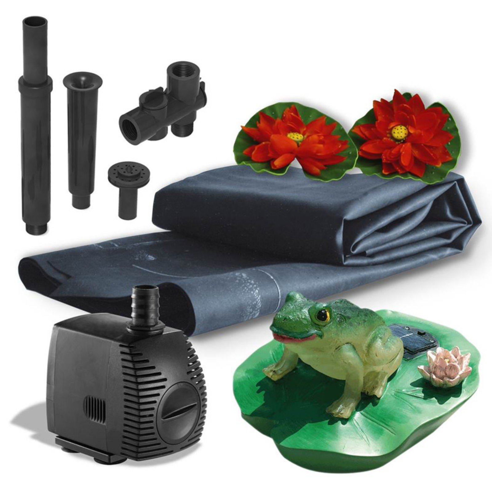 Algreen 300 Gallon Pond Kit with Solar Lighting