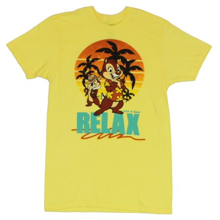 Chip N Dale Rescue Rangers (Disney) Mens T-Shirt -  Relax Vacation Image