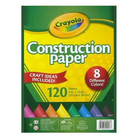 Crayola Construction Paper, 120 Sheets