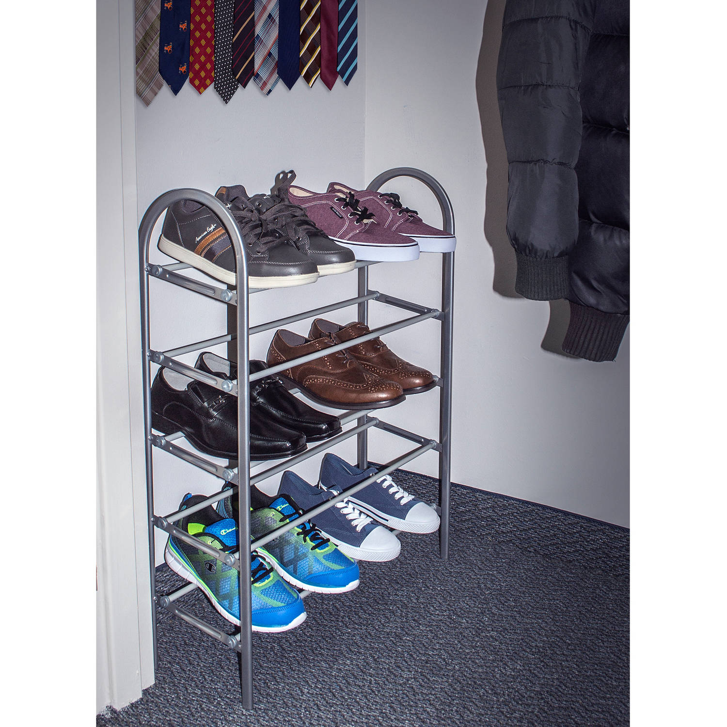 Sorbus Shoe Rack Organizer Storage, 5 Levels For Shoes, Holds Up To 15 Pairs