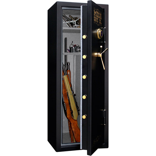 Mesa Safe 14-Gun MBF5922C Fire Resistant Safe with Mechanical Dial Lock, Black
