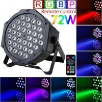 VGEBY Stage Lights,36 LED 72W  Par Lights by Remote and DMX Control for DJ Show Church Wedding Stage Lighting