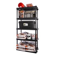 "Plano 36""W x 24""D x 74""H 5-Shelf Heavy Duty Storage Unit, Dark Gray"