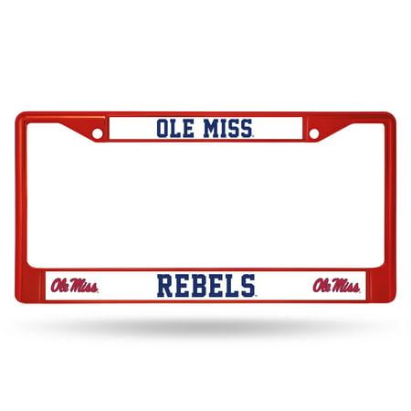 Ole Miss Rebels Frame (Ole Miss Rebels RED COLORED Chrome)