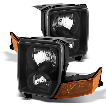 Xtune Jeep Commander 06-10 Crystal Headlights Black HD-JH-JCOM06-AM-BK