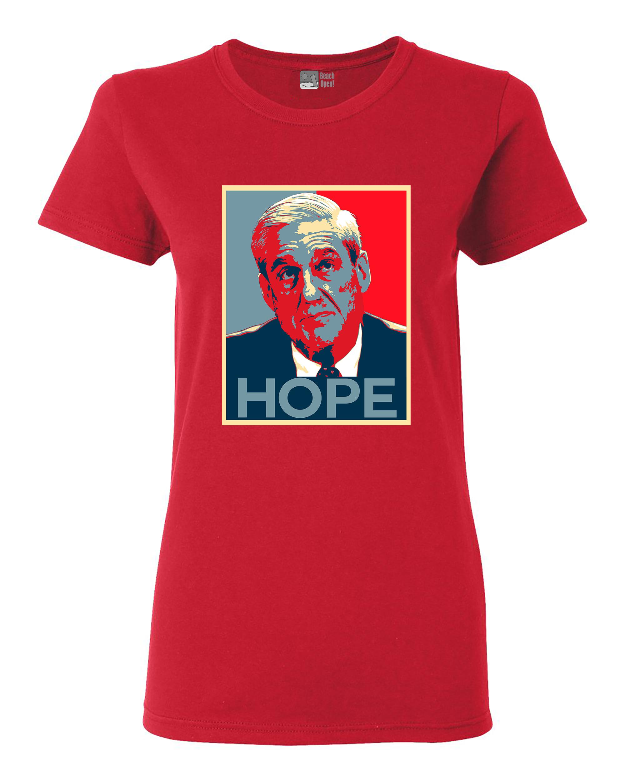 Ladies Robert Mueller Hope USA Support Political DT T-Shirt Tee