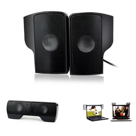 Mini Portable USB Clip-On Speaker for MP3 TV Laptop PC Phone Music Players