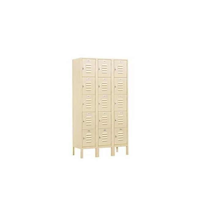 Salsbury Industries Standard Metal Locker-Five Tier Box Style-3 Wide--Unassemble