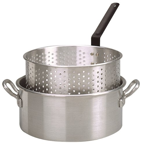 KING KOOKER Model# KK2-10 qt. Aluminum Fry Pan with Basket