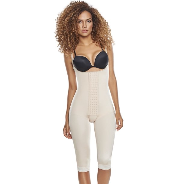 Slimming Braless Body Shaper Girdle with Thighs Slimmer Post-surgical Post-partum Bodysuit lingerie