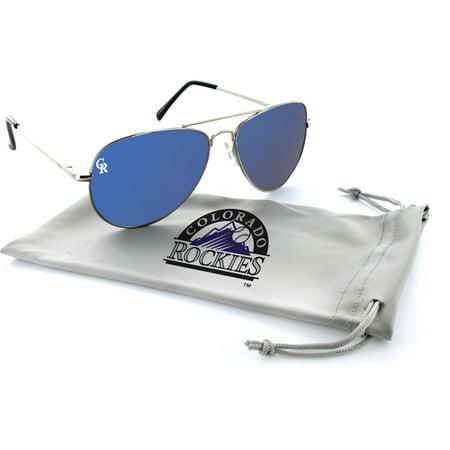 Colorado Rockies Estrada Engraved Aviator Sunglasses - (Colorado Rockies Sunglasses)