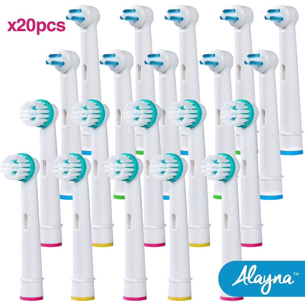 Oral B Replacement Brush Heads Braun Ortho & Power Tip Generic Replacement Toothbrush Head and Electric Toothbrush Heads for Braces
